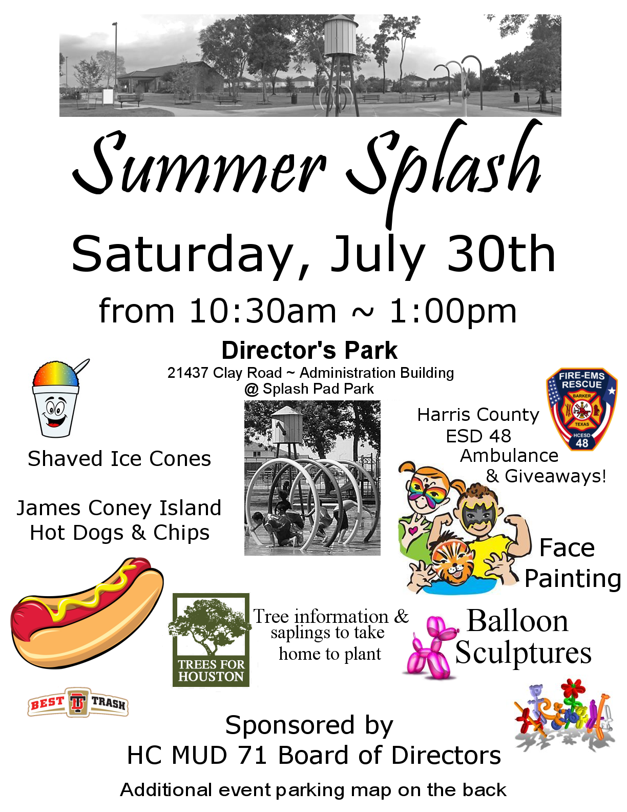 Summer Splash - Saturday, July 30th