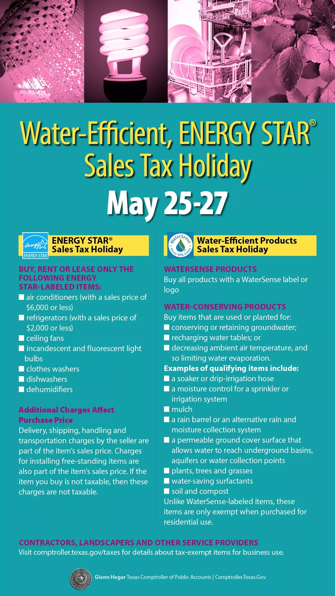 Water-Efficient, ENERGY STAR Sales Tax Holiday